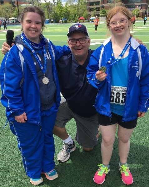 With two of my fav Special Olympics athletes Katie & Ainsley